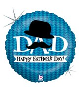 "18"" Holographic Balloon Dapper Dad"
