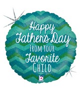 "18"" Holographic Balloon Father's Day Favorite"