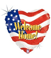 "18"" Holographic Packaged Welcome Home Patriotic"