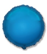 "32"" Jumbo Metallic Blue Circle"