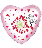 "24"" Love You Flower Foil Balloon"