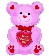 "12"" Airfill Only Happy Valentine's Day Pink Teddy Bear"