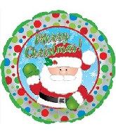 "17"" Waving Santa Balloon"