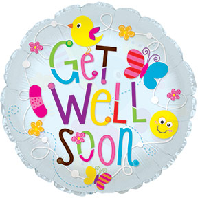 "24"" Get Well Soon Clear Balloon"