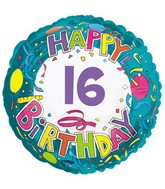 "18"" Happy 16 Birthday Streamers"