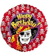 "18 "" Happy Birthday Pirate Skeleton"