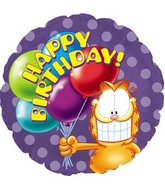 "18"" Garfield Birthday Balloons"