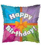 "17"" Happy Birthday Day Colorful Present Packaged"