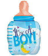 "22"" It's A Boy Bottle Shape Balloon Packaged"