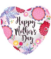 "17"" Happy Mother's Day Crazy Flowers Balloon"