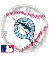 "18"" MLB BaseBall Balloon Miami Marlins"