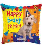 "18"" Happy Birthday Dog With Party Hat Balloon"
