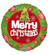 "18"" Merry Christmas Tree Balloon"