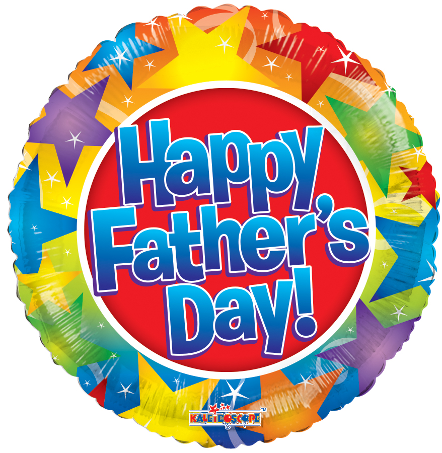 "18"" Happy Father's Day Stars Balloon"