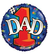 "18"" #1 Dad Balloon"