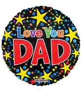 "18"" I Love You Dad Stars Balloon"