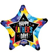 "18"" Father's Day Shinny Stars Balloon"