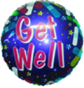 "18"" Get Well Bandaid Purple Balloon"
