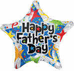 "18"" Balloon Happy Father's Day Prismatic Stars"
