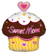 "18"" Sweet Mom Cupcake Shape"