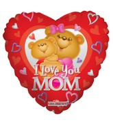 "18"" I Love Mom Happy Bears Balloon"