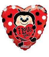 "4"" Aifill Only Lady Bug With Heart"