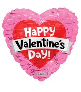 "18"" Valentine's Heart With Banner Foil Balloon"