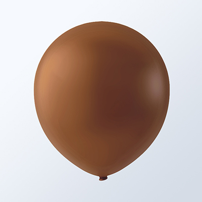 "9"" Creative Brand Brown Latex Balloons (144 Per Bag)"