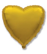 "32"" Metallic Gold Jumbo Heart"
