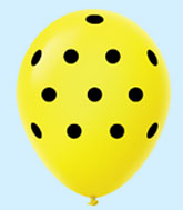 "11"" Polka Dots Latex Balloons 25 Count Yellow"