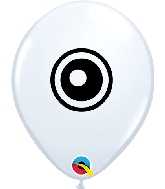 "5"" Eyeballs Latex Balloons 100 Count"