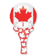 "12"" Airfill Only Inflate-A-Fun Canada Flag Mylar Balloon"