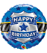 "18"" Round Birthday Badge Foil Balloon"