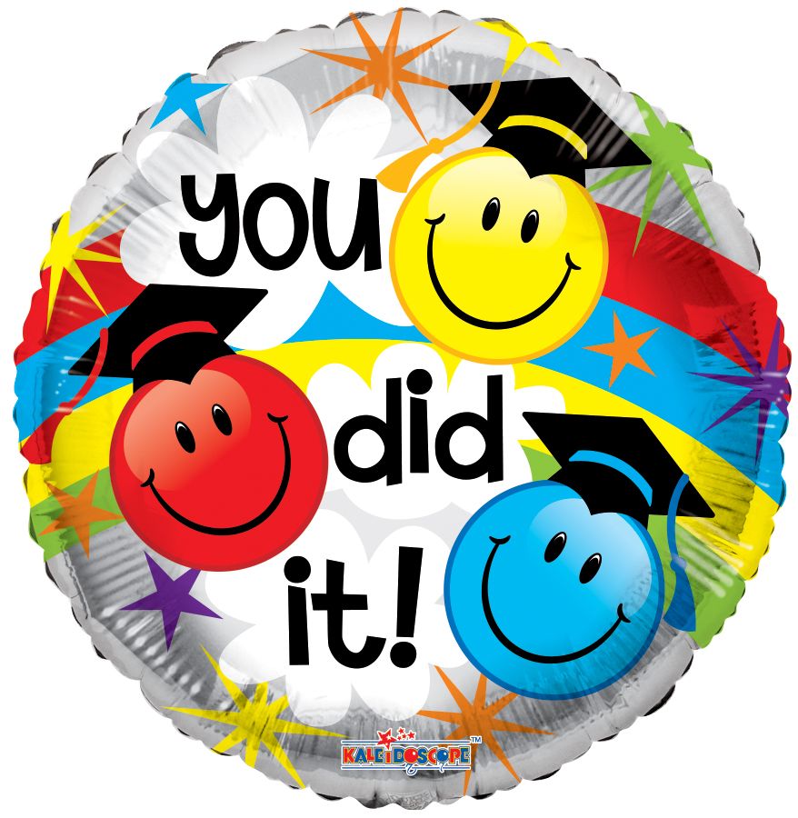 "18"" You Did It Smilies Foil Balloon 
