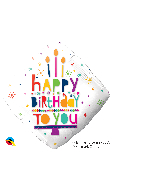 "18"" Diamond Happy Birthday To You Candles Foil Balloon"