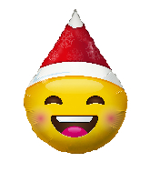 "18"" Smiley With Christmas Hat Foil Balloon"
