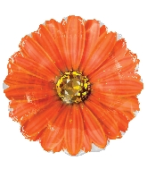 "18"" Orange Rhinestone Daisy Foil Balloon"