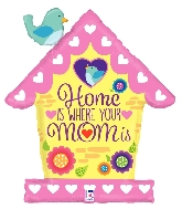 "33"" Shape Birdhouse Mom Foil Balloon"