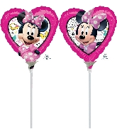 "9"" Minnie Happy Helpers Airfill Only Foil Balloon"