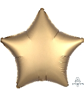 "18"" Satin Luxe™ Gold Sateen Star Foil Balloon"