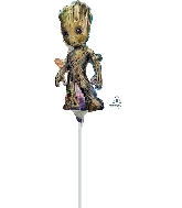 "10"" Baby Groot Airfill Only Mini Shape Foil Balloon"