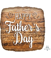 "18"" Happy Father's Day Wood Sign Foil Balloon"
