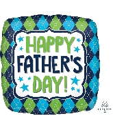"18"" Happy Father's Day Argyle Foil Balloon"