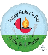 "18"" Happy Father's Day Grill Master Foil Balloon"