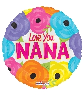 "18"" I Love You Nana Foil Balloon"