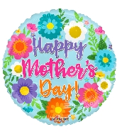 "18"" Happy Mother's Day S ing Flowers Foil Balloon"