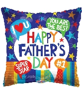"18"" Father's Day Messages Foil Balloon"
