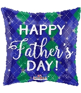 "18"" Father's Day Diamond Pattern Foil Balloon"