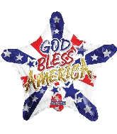 "18"" God Bless America Foil Balloon"