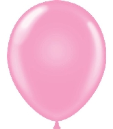 "17"" Standard Pink Tuf Tex Latex Balloons 50 Per Bag"